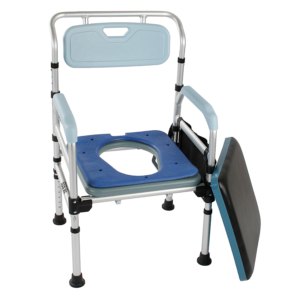 3-in-1 Commode Chair Bedside Toilet & Shower Chair Medical Bedside ...