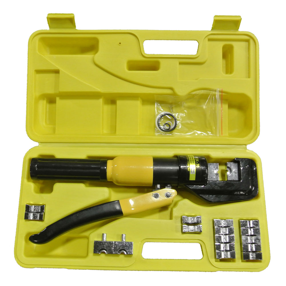 yqk 70 crimper crimping tool 9 dies battery cable lug terminal 10 ton hydraulic ebay. Black Bedroom Furniture Sets. Home Design Ideas
