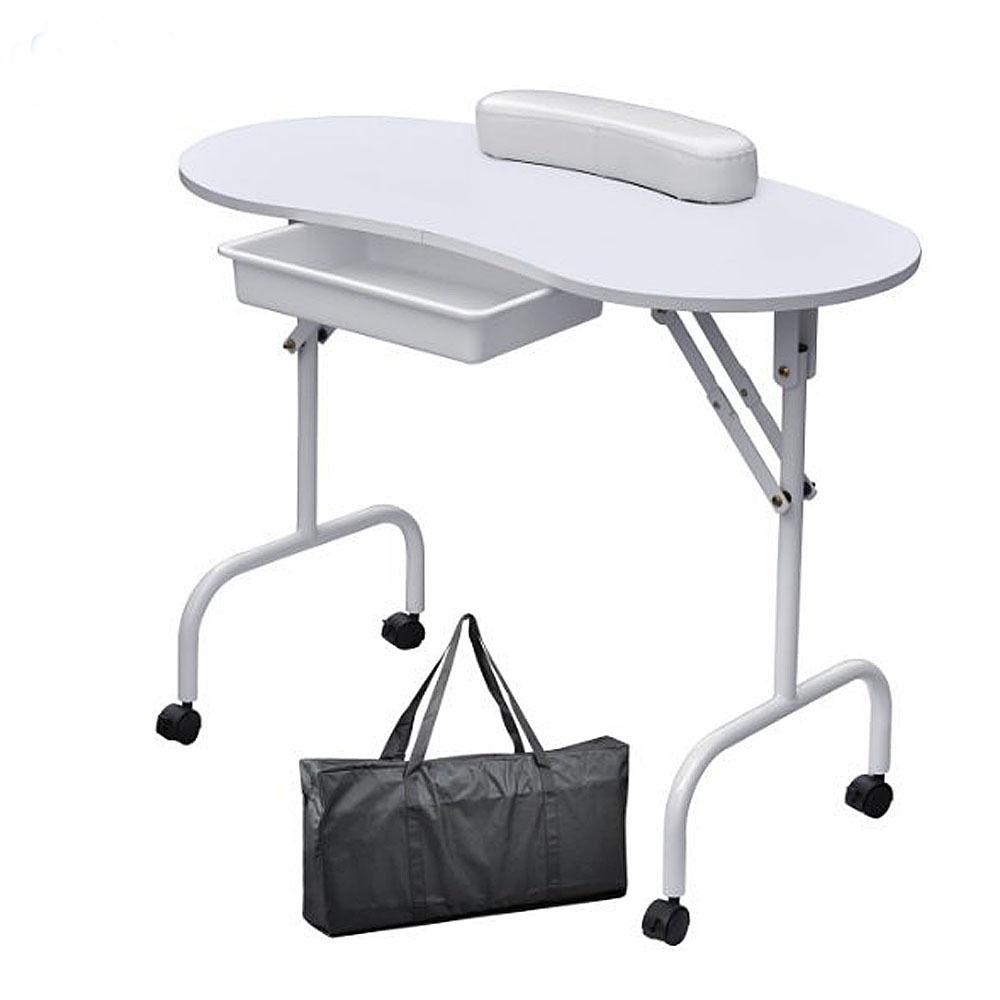 Elegant Manicure Nail Table Station Portable Desk Spa Beauty Salon ...