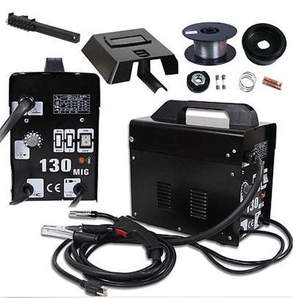 105 AMP MIG130 Flux Core Auto Feed Welding Machine Welder W/Spool ...