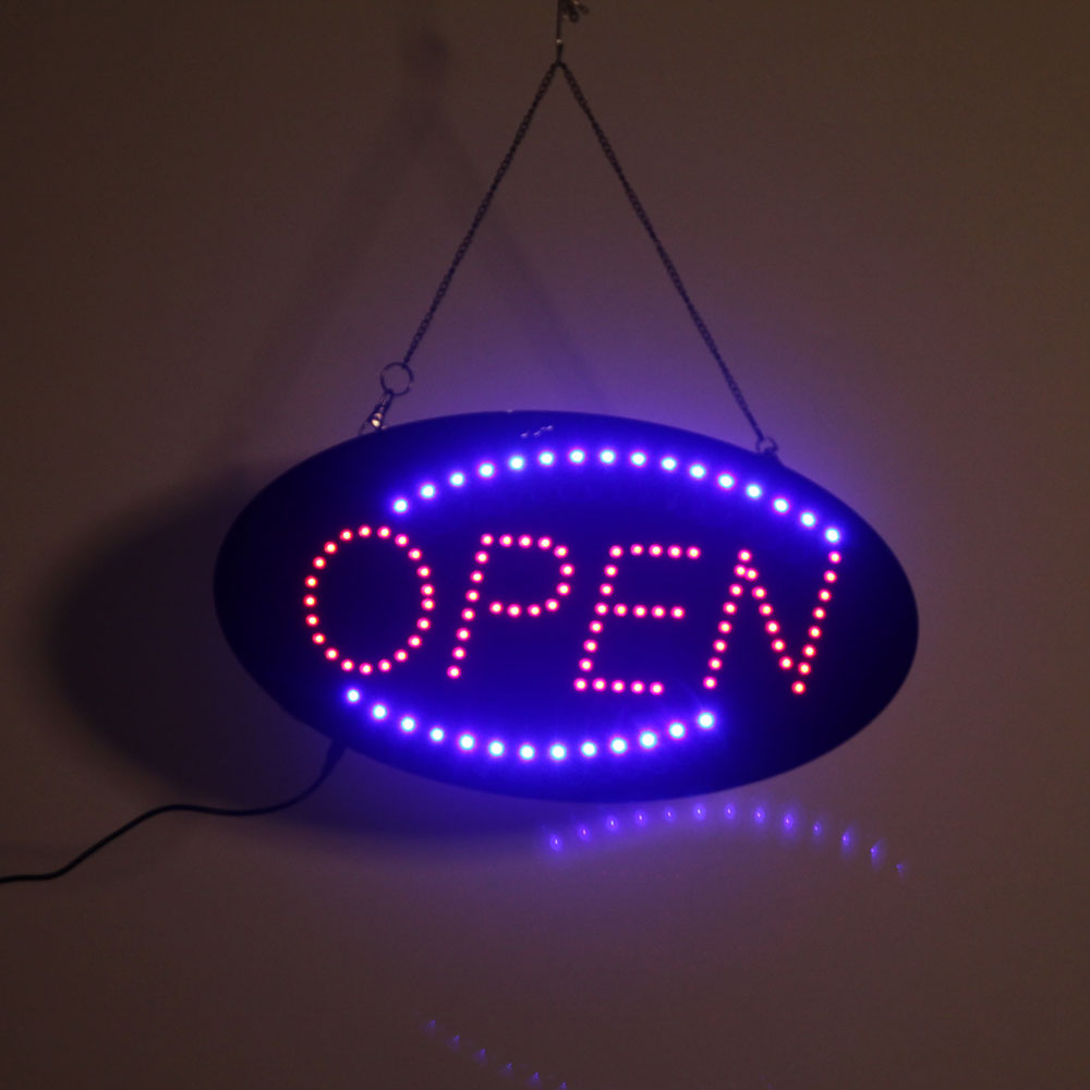 LED Scrolling Neon Light Open Sign Store Shop Hanging