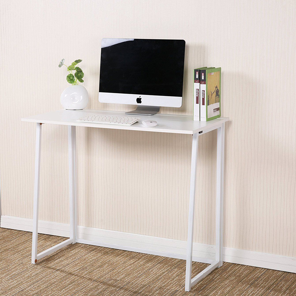 Superbe Modern Folding Computer Desk Home Office Study PC Writing Table Furniture  White