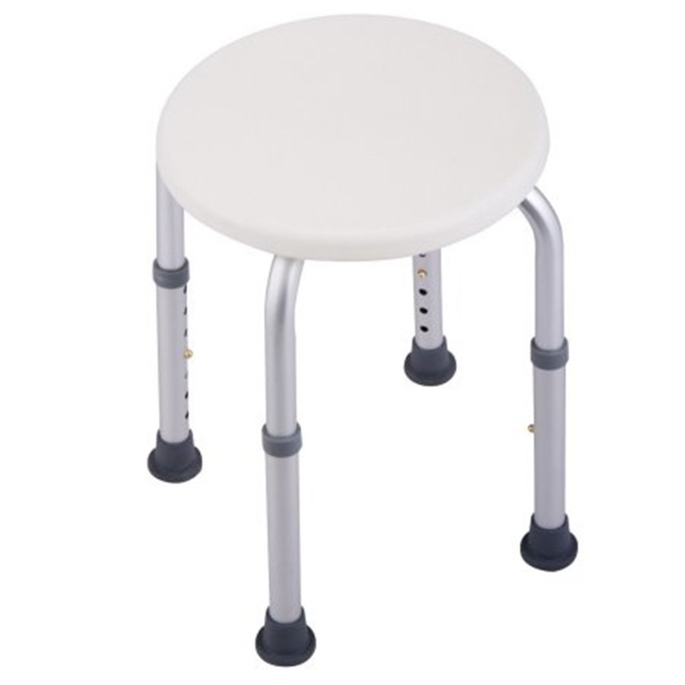 Adjustable Medical Round Shower Stool Bath Shower Seat Chair 7 ...