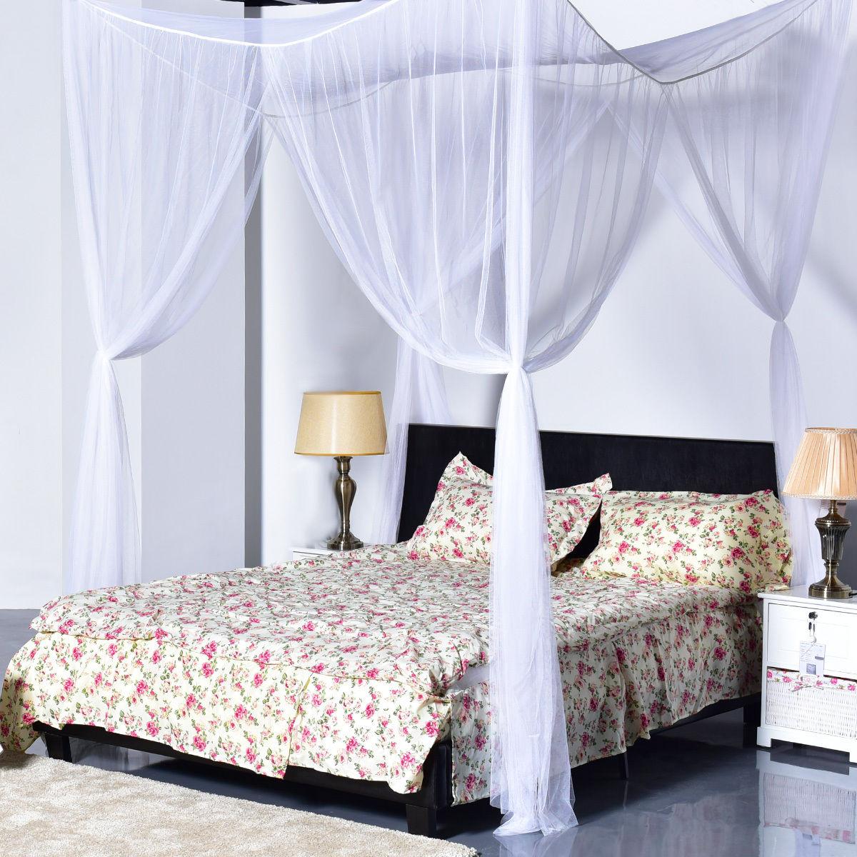 Top 4 Corner Polyester Fabric Square Mosquito