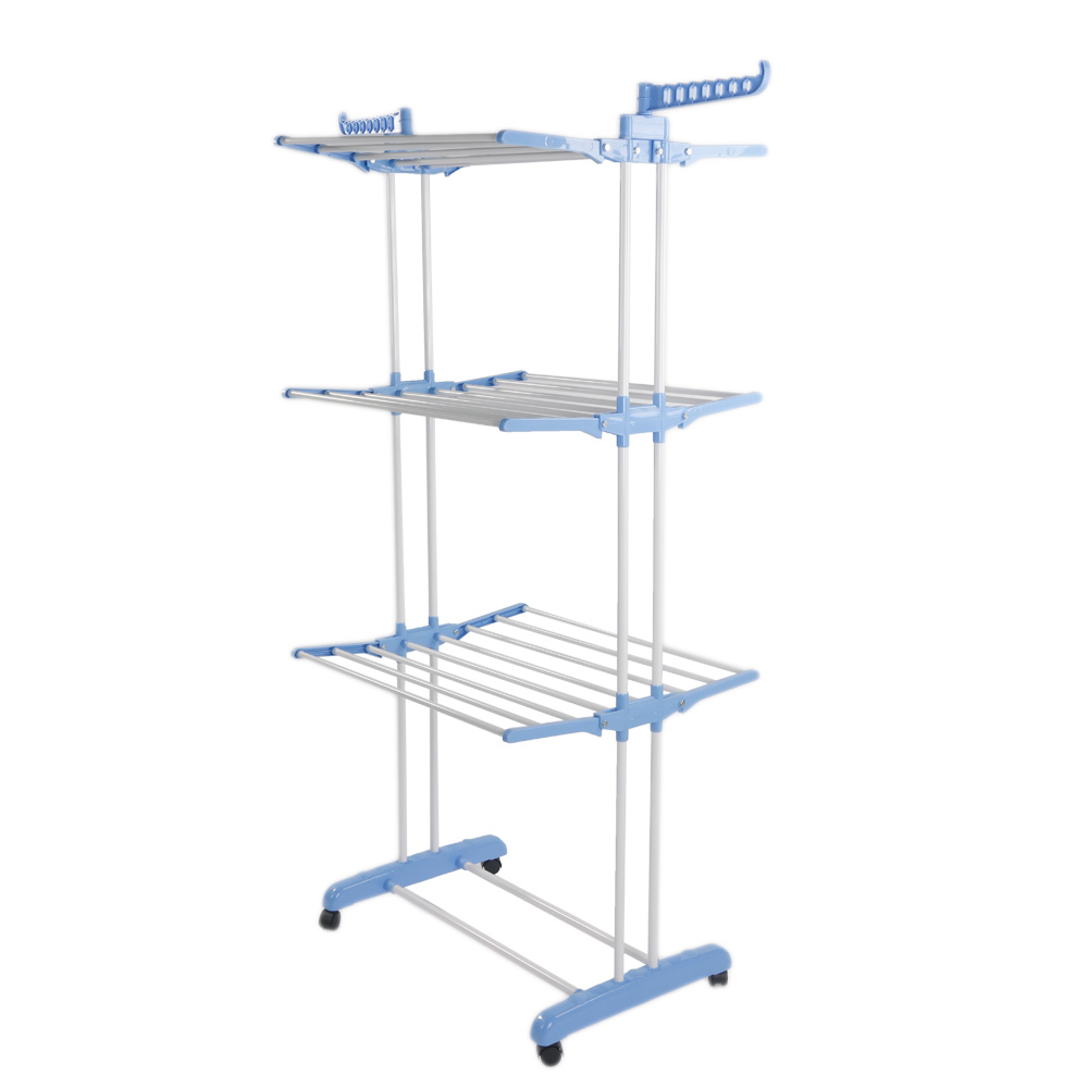 71 u0026quot  folding clothes laundry drying rack in  outdoor drying rail hanger 3tier