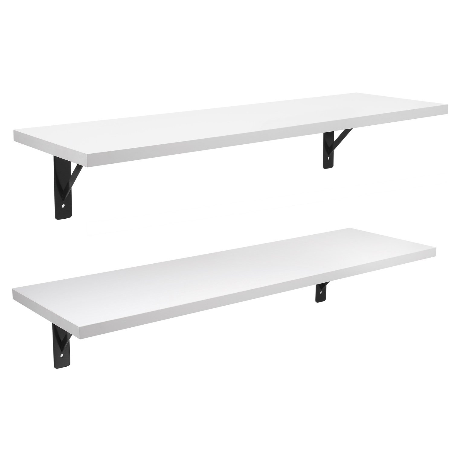 2 Display Ledge Shelf Floating Shelves Wall Mounted With