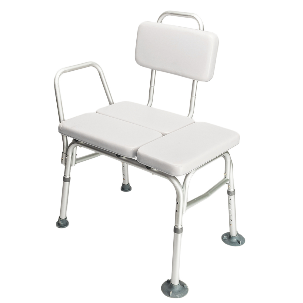 White Medical Shower Chair Height Adjustable Bath Tub Padded Seat ...