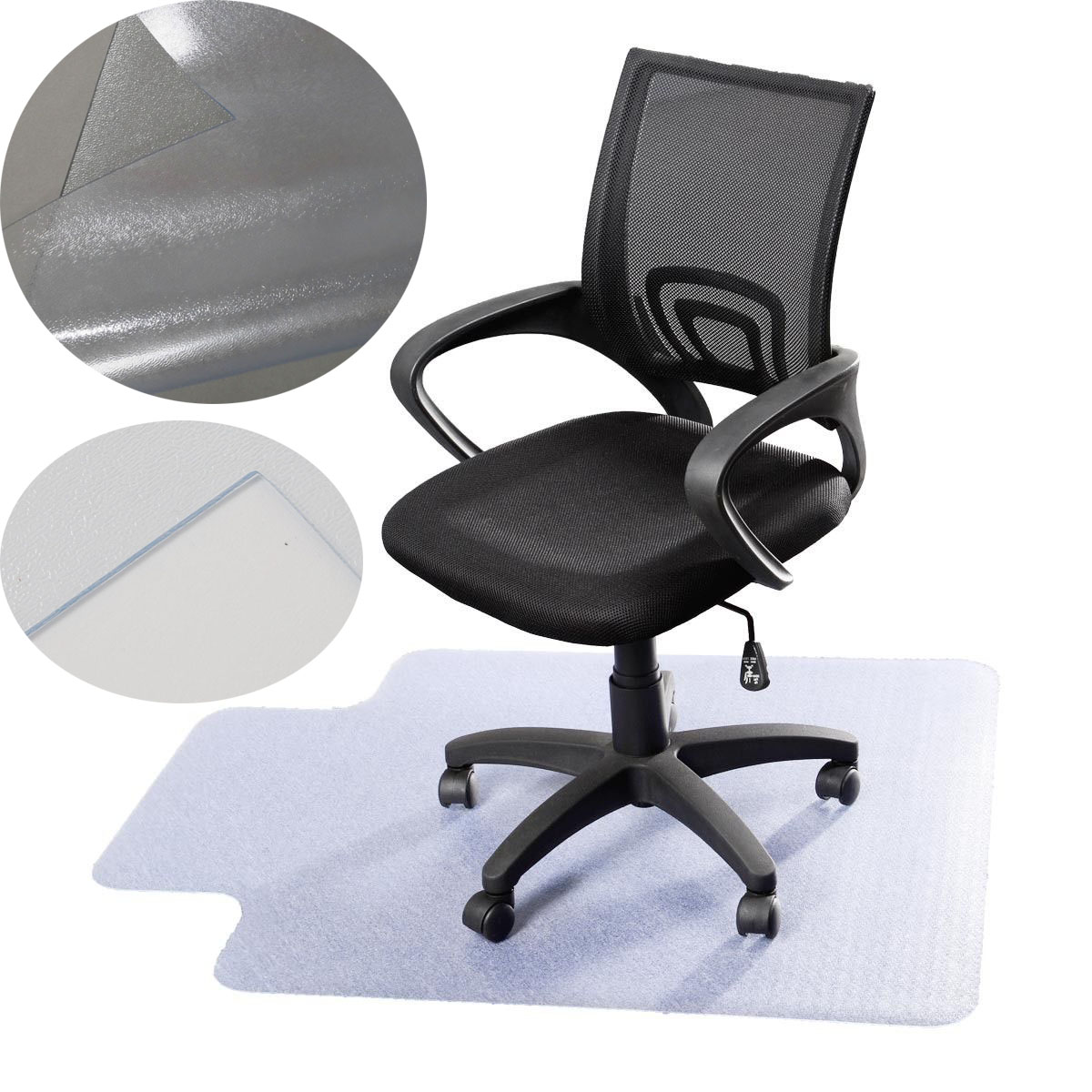 pro desk office chair floor mat protector for hard wood floors 48 39 39 x 36 39 39 new ebay. Black Bedroom Furniture Sets. Home Design Ideas