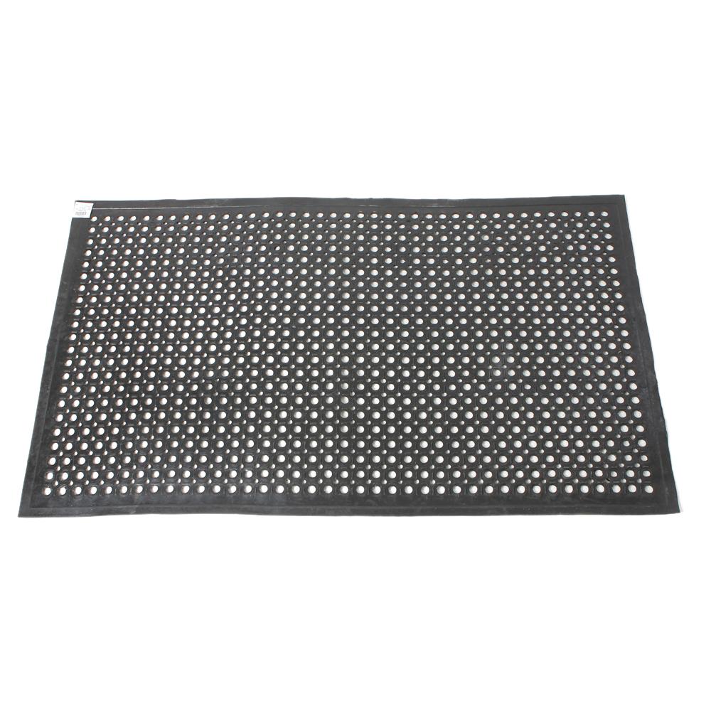 """Industrial Floor Mats: 36"""" X 60"""" Black Indoor Commercial Industrial Anti-fatigue"""