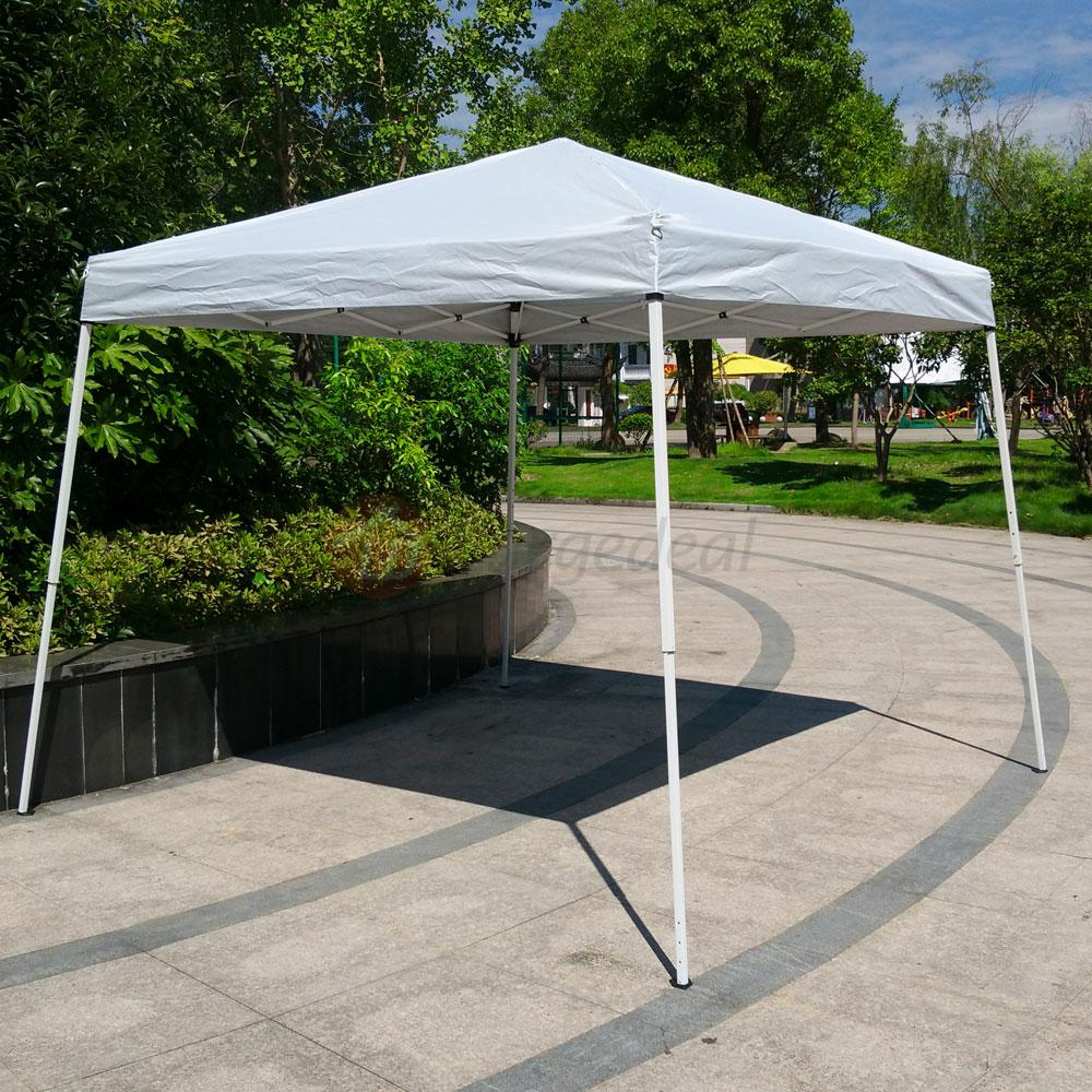 10x10 ft pop up gazebo easy pop up canopy party tent white for Gazebo plegable easy