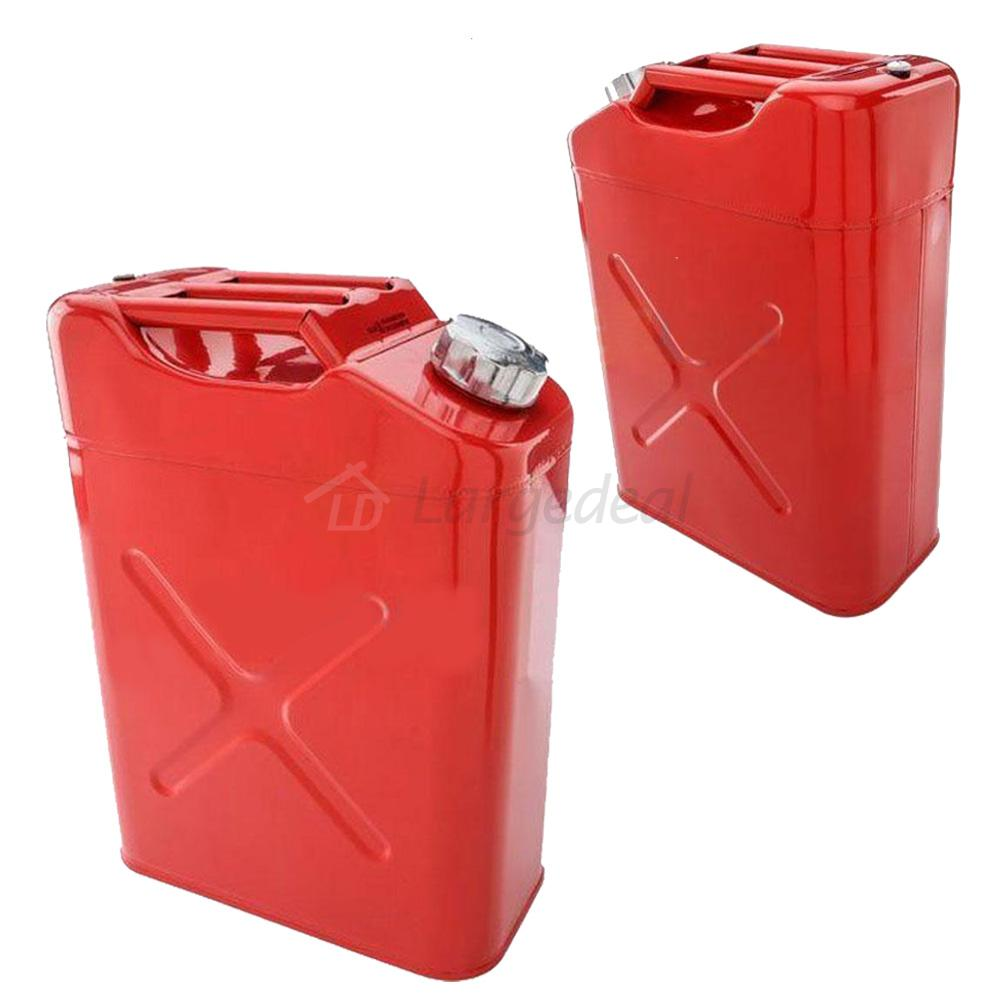 new 5 gallon jerry can gas fuel steel tank fuel gas gasoline red 20l storage eu ebay. Black Bedroom Furniture Sets. Home Design Ideas