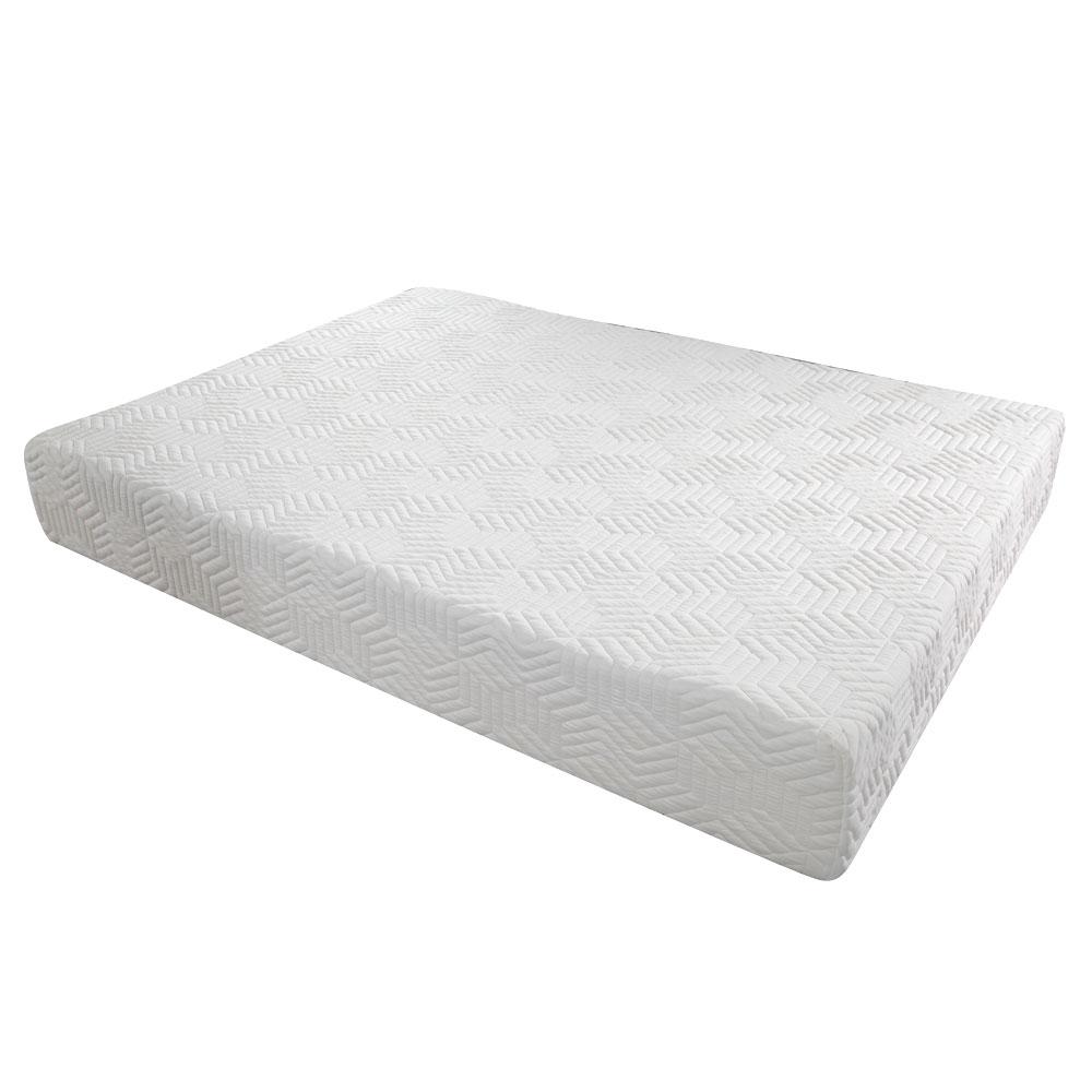 three layer 12 cool medium firm gel memory foam mattress queen 2 free pillows ebay. Black Bedroom Furniture Sets. Home Design Ideas