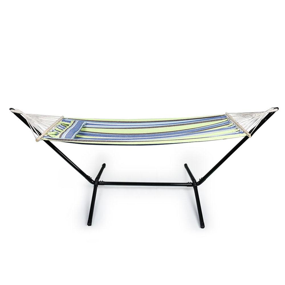 2 Person Fabric Hammock Swing Outdoor Patio Furniture