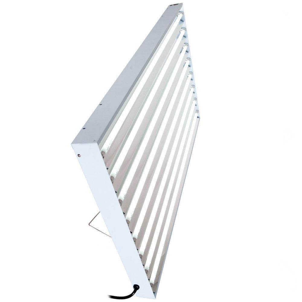t5 4 ft 48 8 bulb fluorescent system lamps 6500k grow. Black Bedroom Furniture Sets. Home Design Ideas
