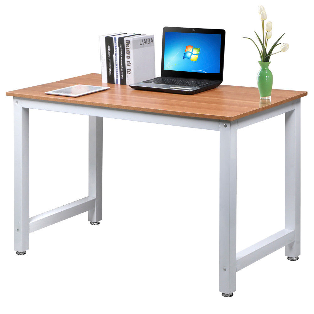 Office computer pc laptop wooden desk study table