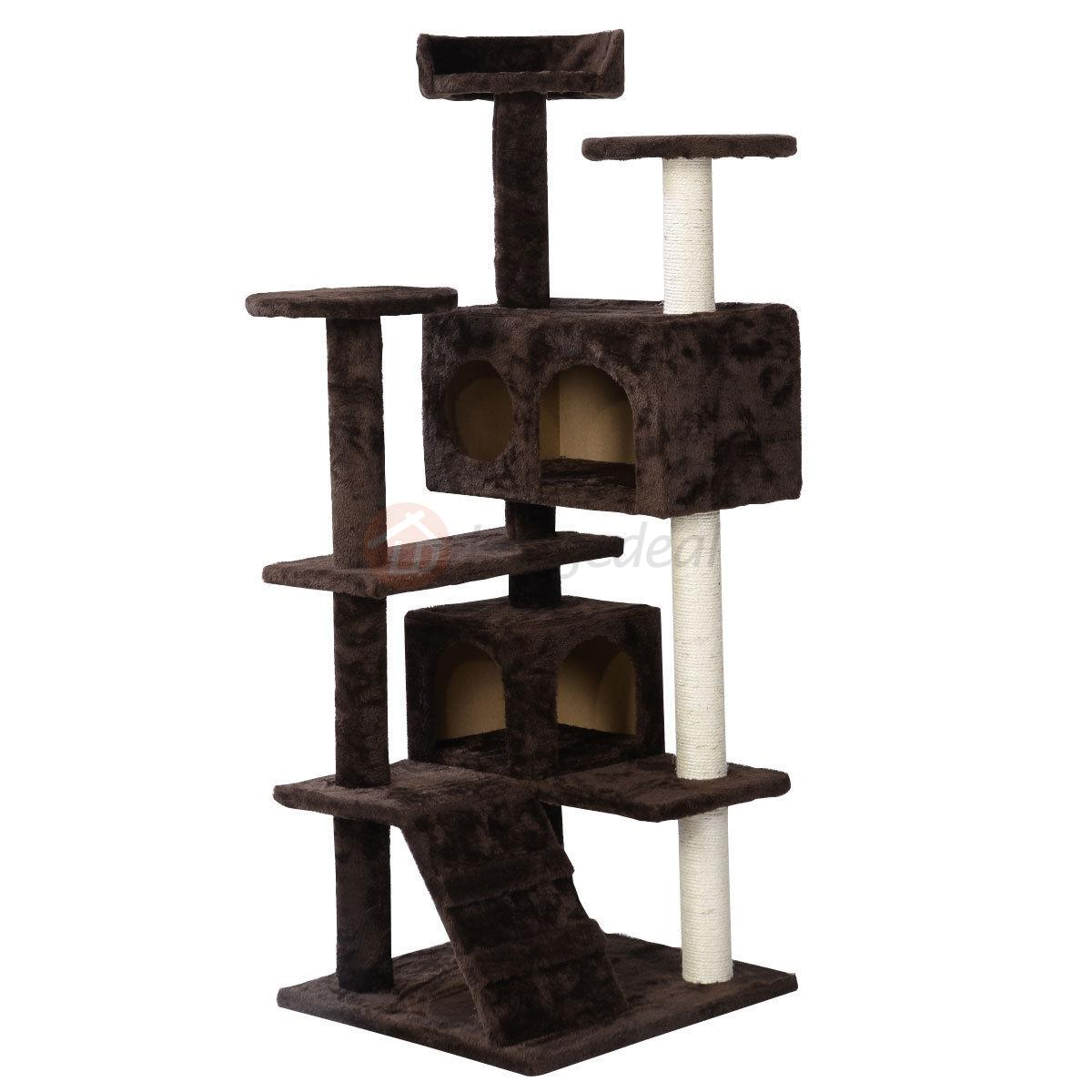 52 cat tree condo furniture play toy scratch post kitten. Black Bedroom Furniture Sets. Home Design Ideas