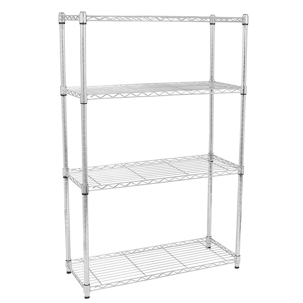 Kitchen Shelf Metal: 4 Layer Wire Rack Metal Shelf Shelving Adjustable Unit