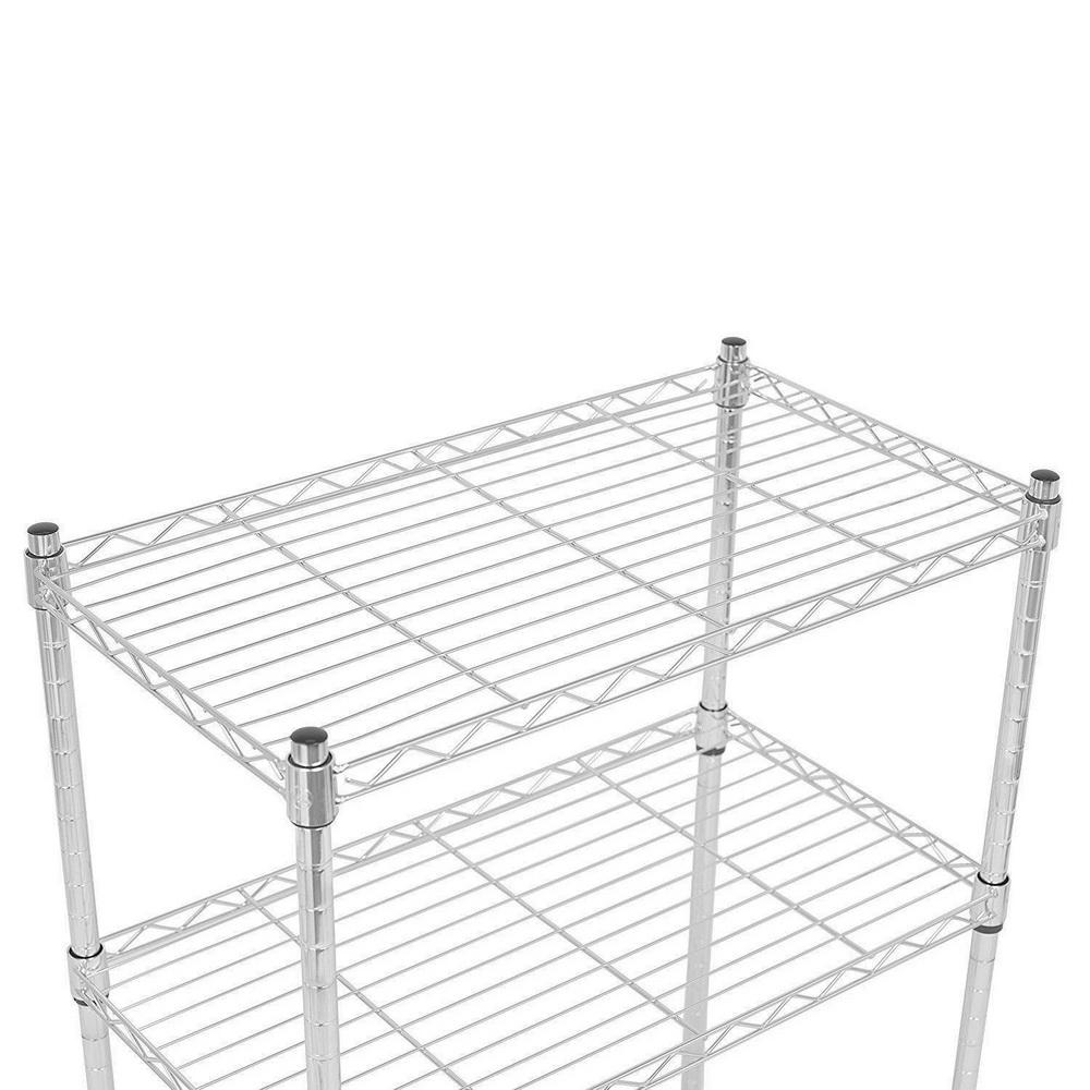 3 Tier Wire Shelving Rack Shelf Adjustable Unit Garage Kitchen ...