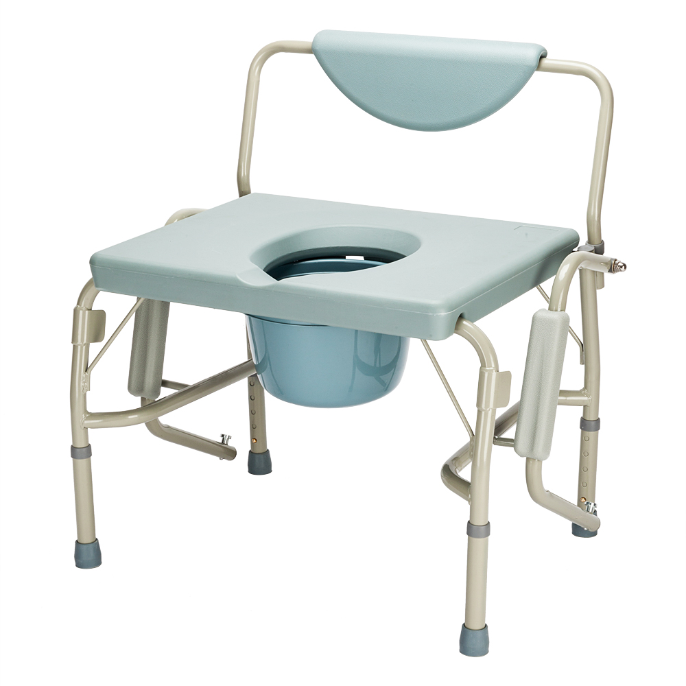 550 lbs Heavy Duty Beside Commode Chair Toilet Seat with Safety ...
