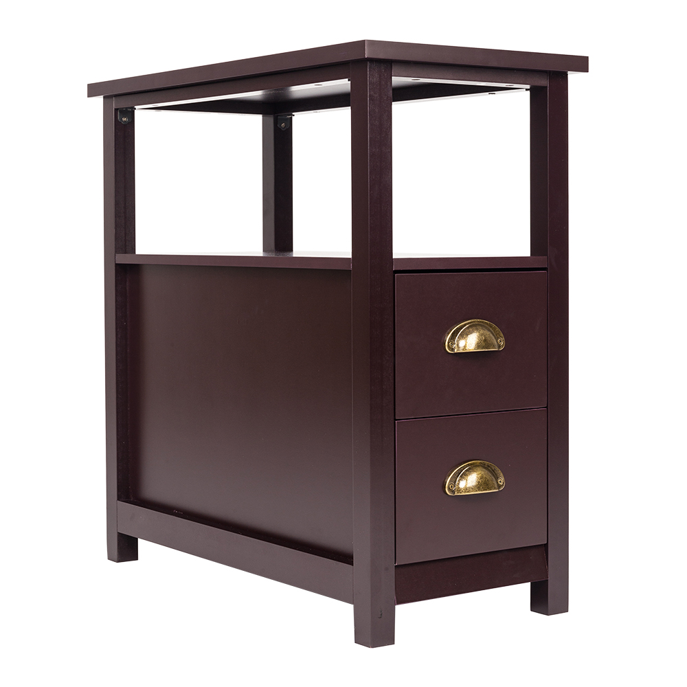 Chairside Side End Table Snack Storage Table Stand With