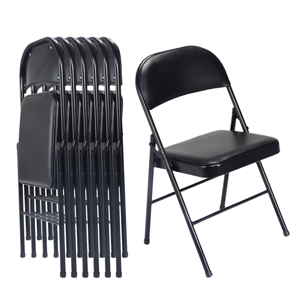 Outstanding Details About 6 Pcs National Public Seating Steel Folding Chair W Fabric Padded Seat And Back Theyellowbook Wood Chair Design Ideas Theyellowbookinfo
