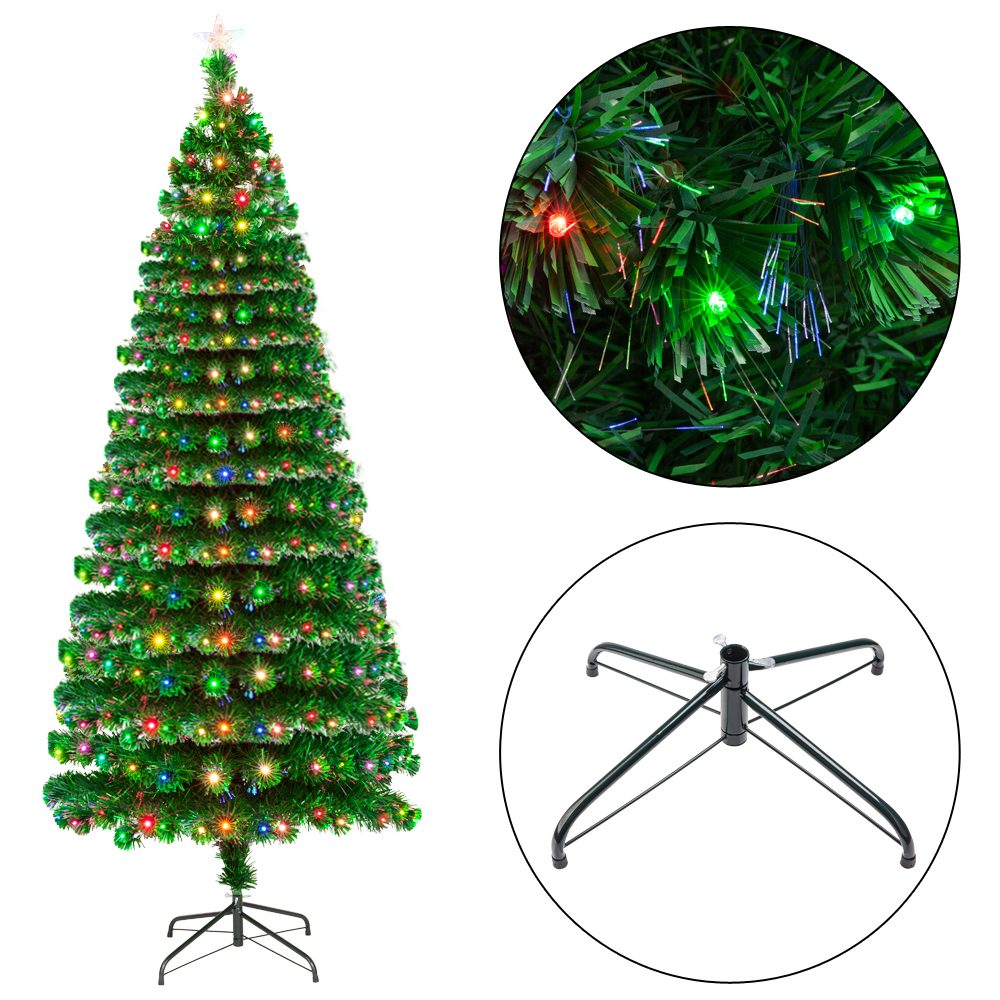 best website e07d9 1dd3b Details about Holiday Time 7.5ft Pre-Lit Flocked Artificial Christmas Tree  with 260 Led Lights