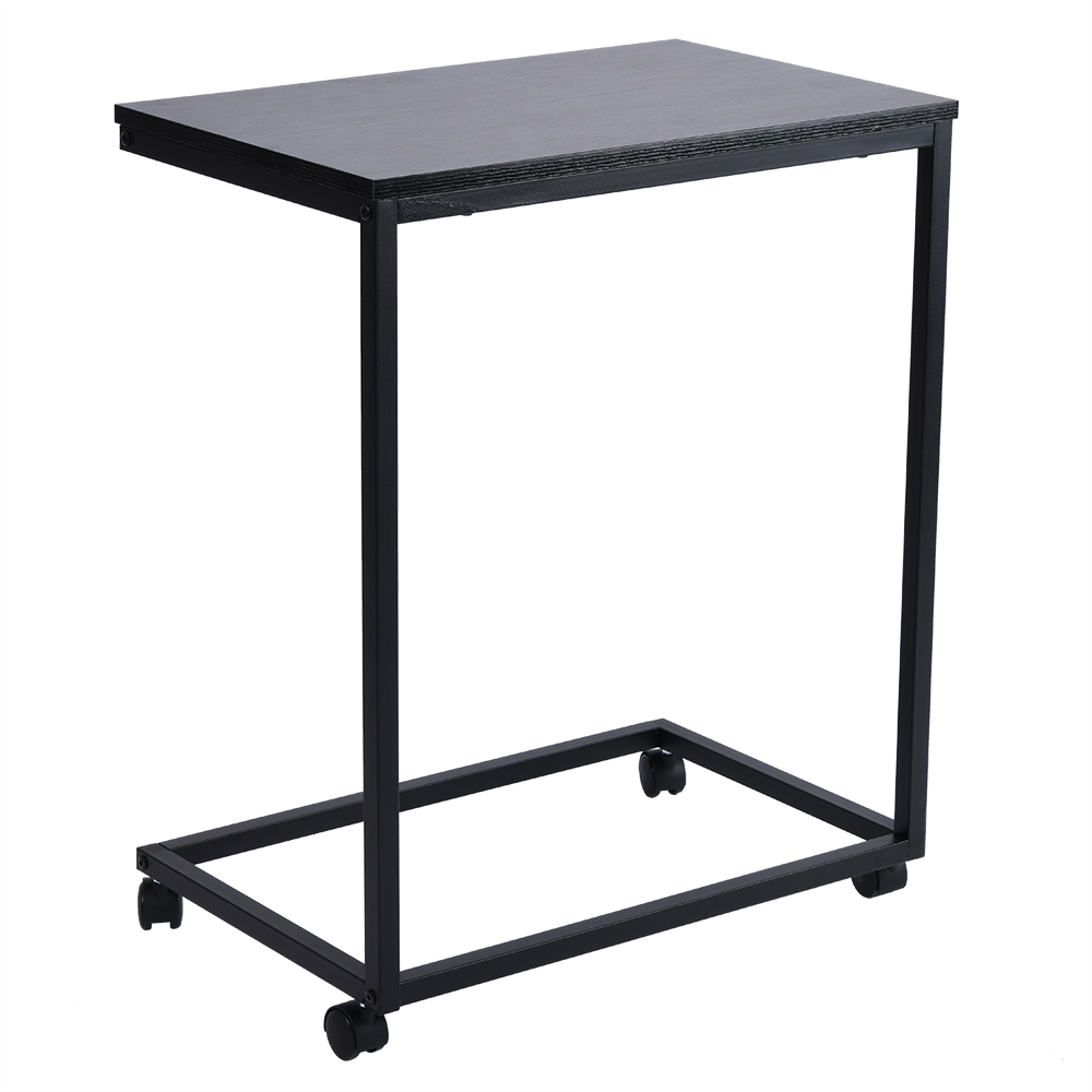 Removable Side Table With Wheels Computer Desk C Shape Simple Iron