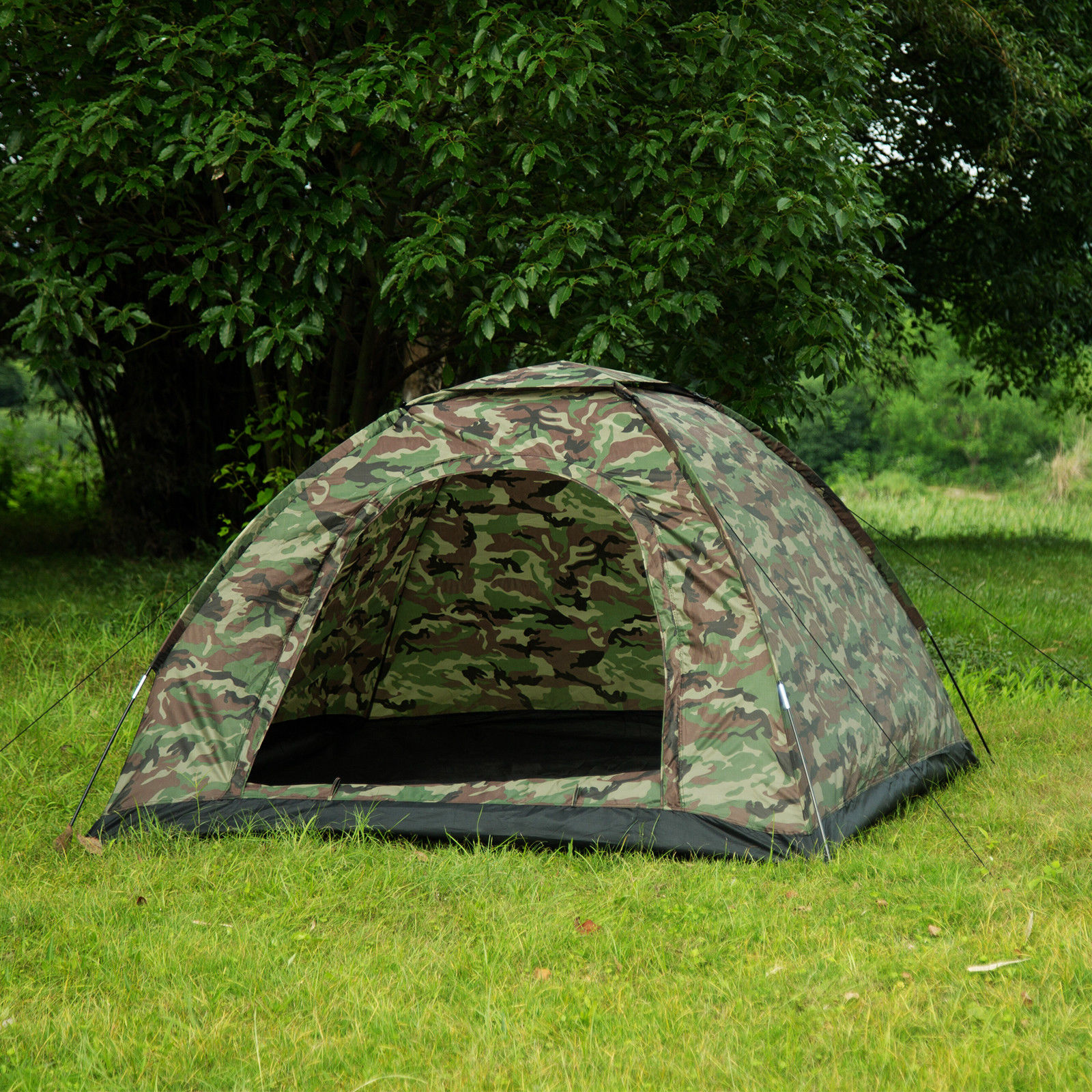 17ee058390 3-4 Person Outdoor Camping Waterproof 4 Season Family Tent Camouflage Hiking