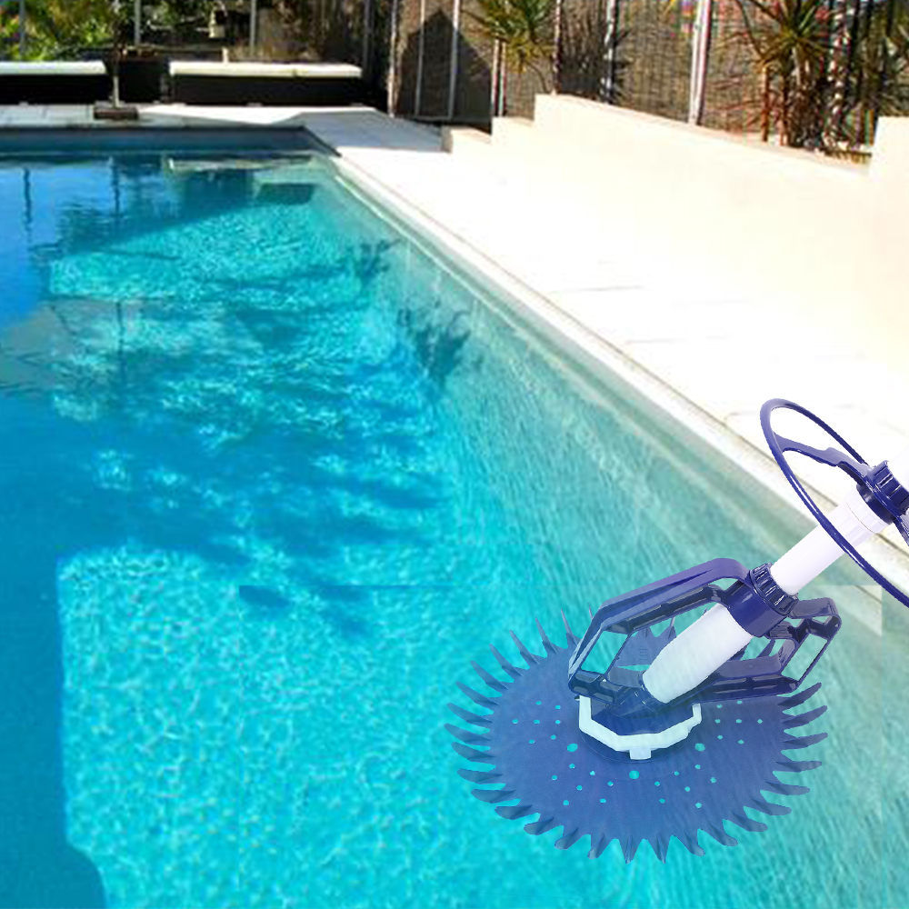 Details about Automatic Climb Wall Swimming Pool Cleaner Set Cleaning  Equipment Tool /w Hoses